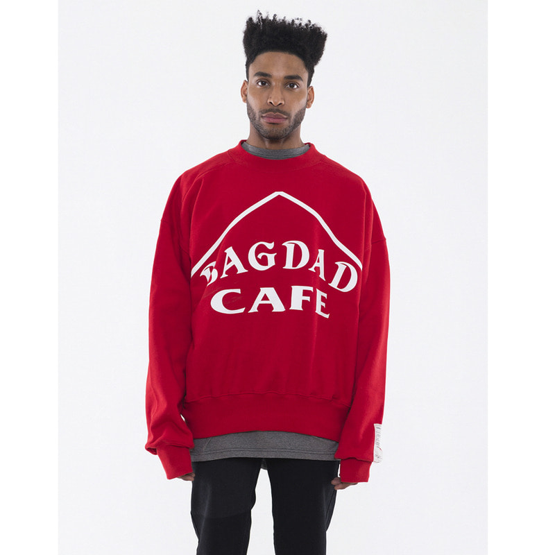 [VAN CALLE CAMINOS] Calle bagdad cafe Tape sweatshirts (red)