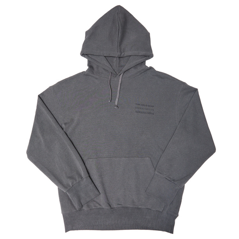 [OVERR] 17FW COLDWAR WASHING GRAY HOODIE