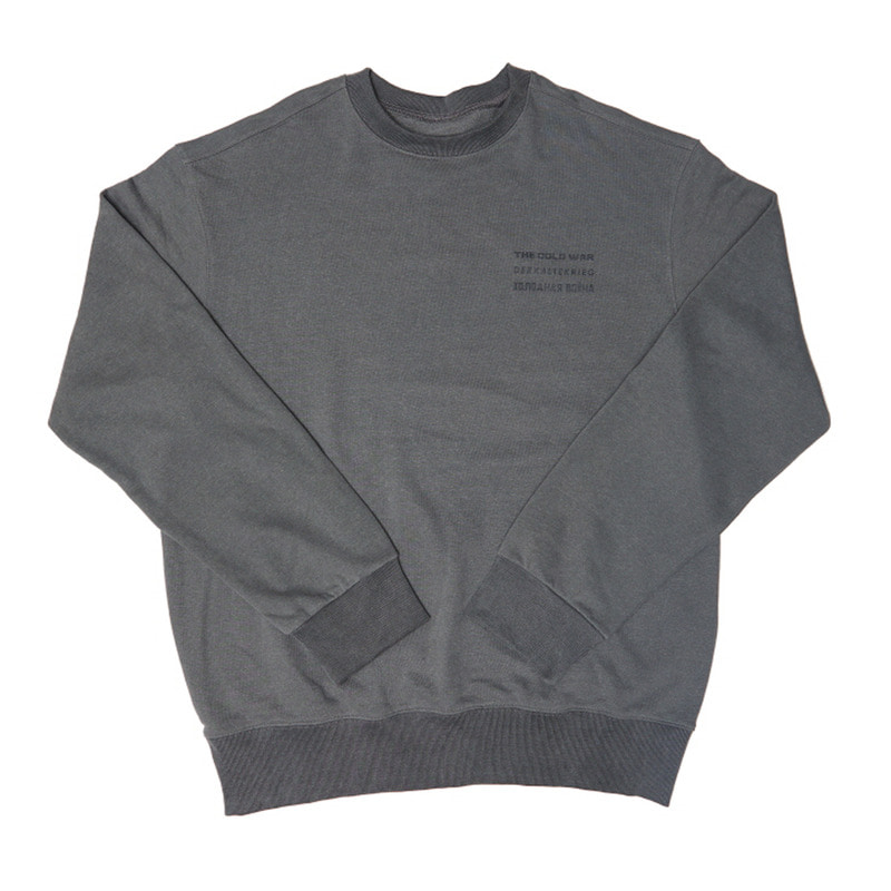 [OVERR] 17FW V WASHING GRAY SWEATSHIRTS