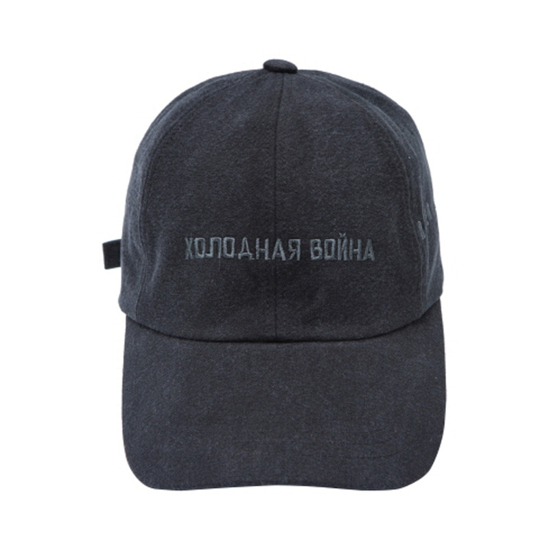 [OVERR] 17FW WASHING BLACK BALLCAP