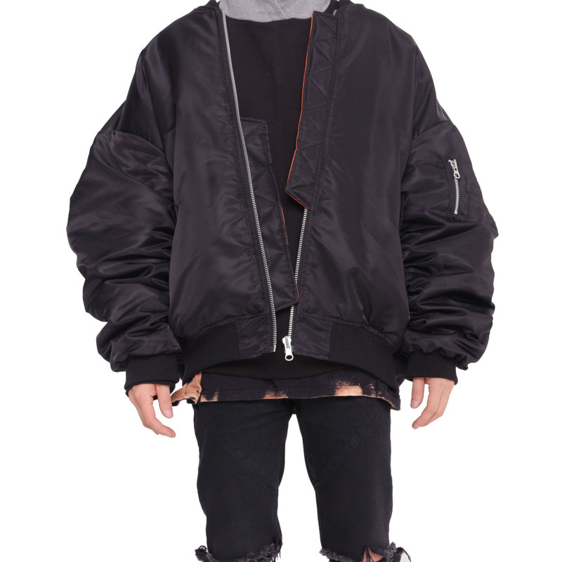 [FADE6] DOUBLE-SIDED BOMBER JACKET