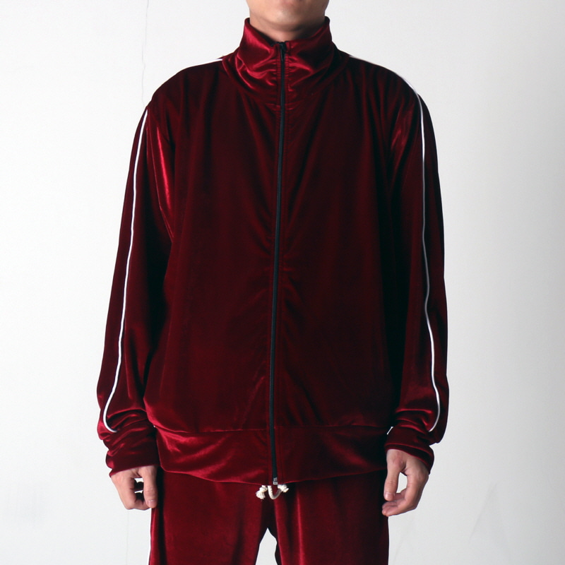 [$ SHOP SALE] [EPTM] VELOUR TRACK JACKET (BURGUNDY)