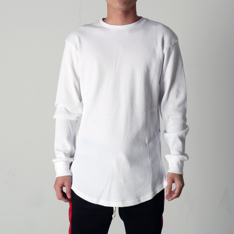 [$ SHOP SALE] [EPTM] SIDE ZIP THERMAL LONG TEE (WHITE)