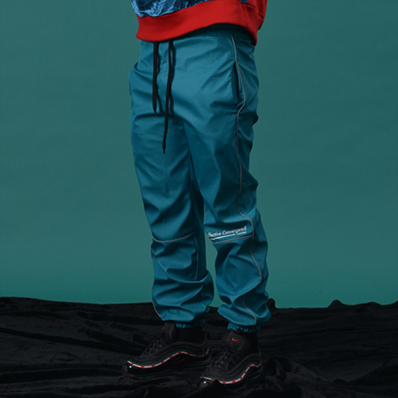 [WANTON] 3M LINE JOGGER PANTS BLUEGREEN