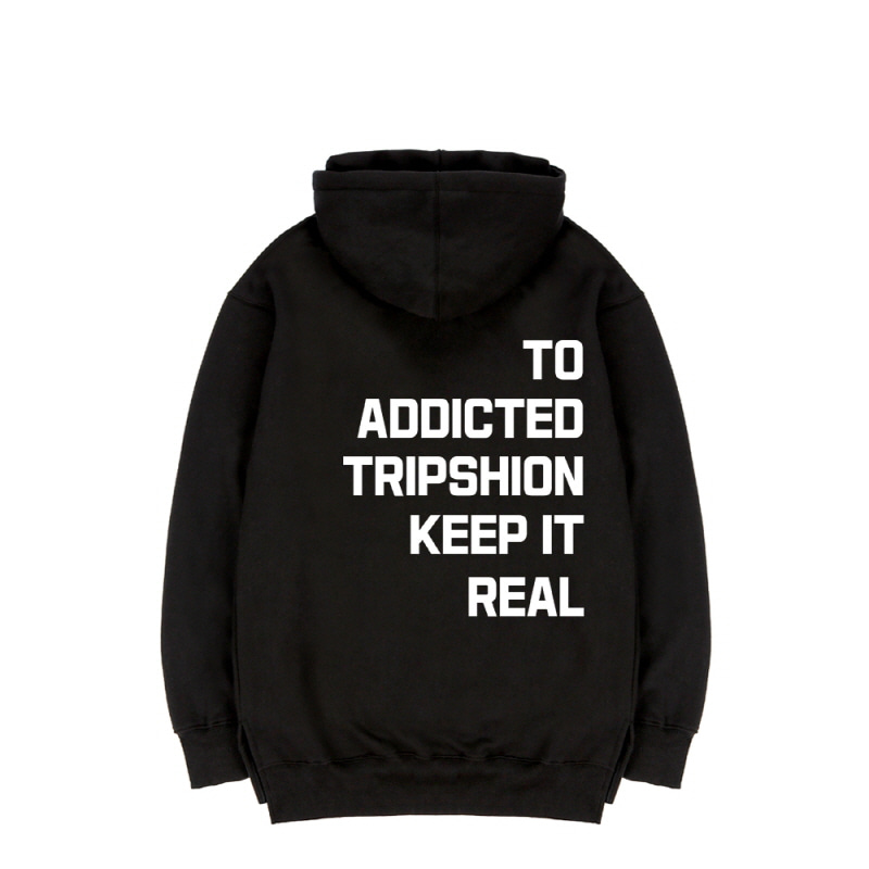 TRIPSHION KEEP IT REAL HOODIE - BLACK