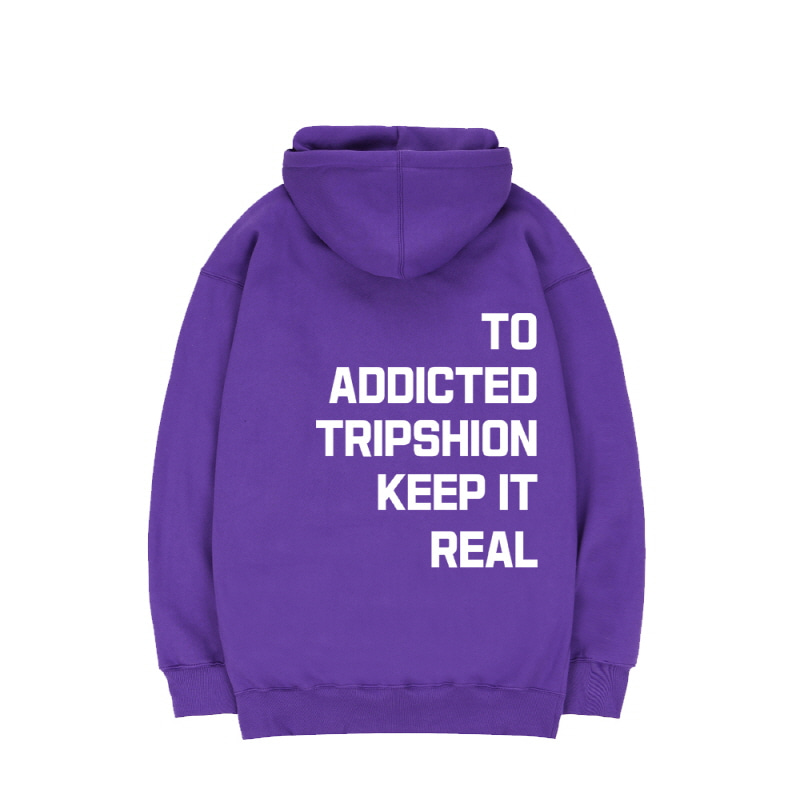 TRIPSHION KEEP IT REAL HOODIE - PURPLE