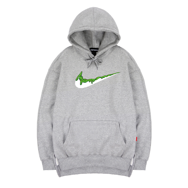 TRIPSHION GREEN BENDING TOOTHPASTE HOODIE - GRAY