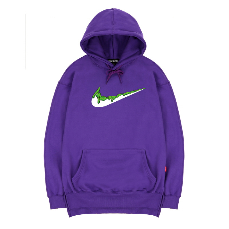 TRIPSHION GREEN BENDING TOOTHPASTE HOODIE - PURPLE