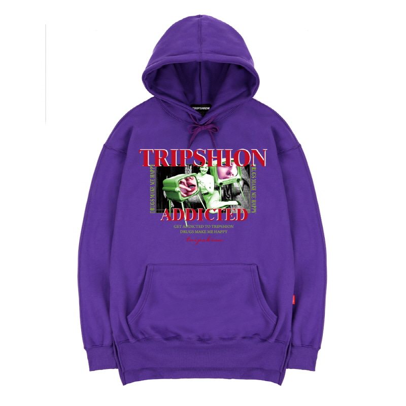 TRIPSHION HALLUCINATION TV HOODIE - PURPLE