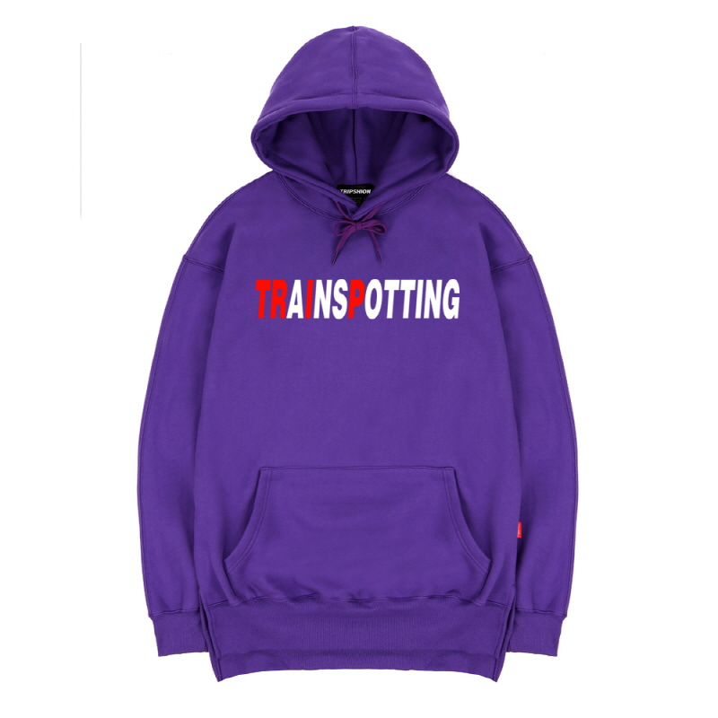 TRIPSHION TRAINSPOTTING HOODIE - PURPLE