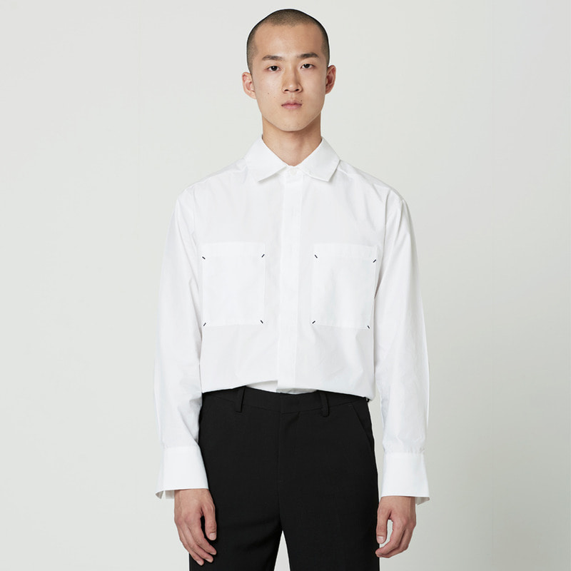 [NOVELLA] POCKET SHIRT WHITE