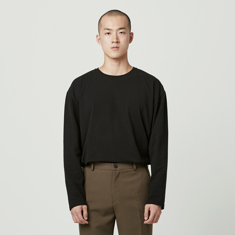 [NOVELLA] BASIC LONG SLEEVE BLACK