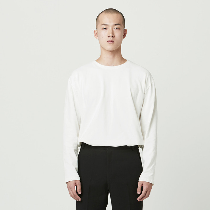 [NOVELLA] BASIC LONG SLEEVE IVORY