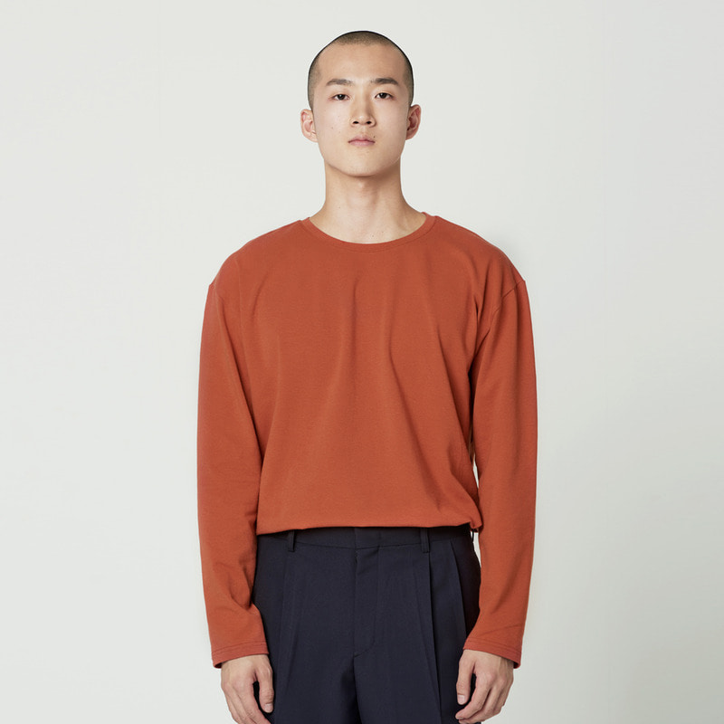 [NOVELLA] BASIC LONG SLEEVE BRICK