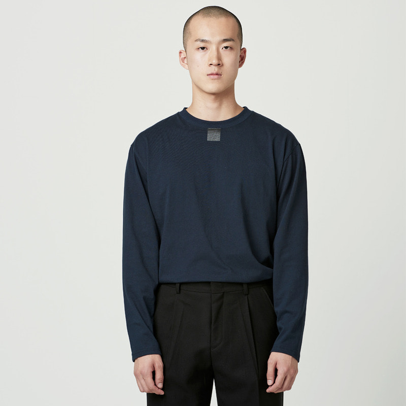 [NOVELLA] SQUARE LONG SLEEVE NAVY