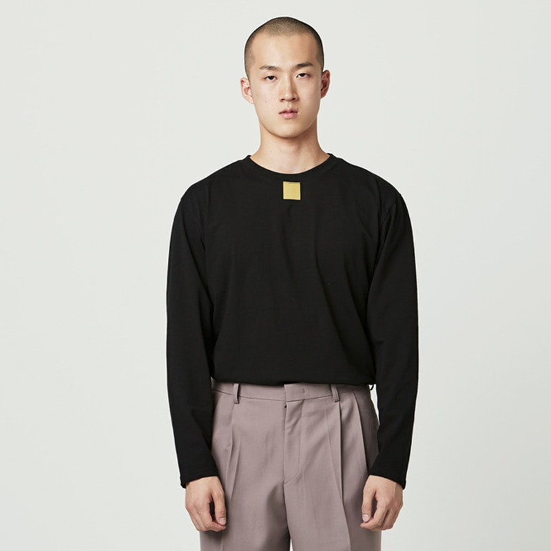 [NOVELLA] SQUARE LONG SLEEVE BLACK