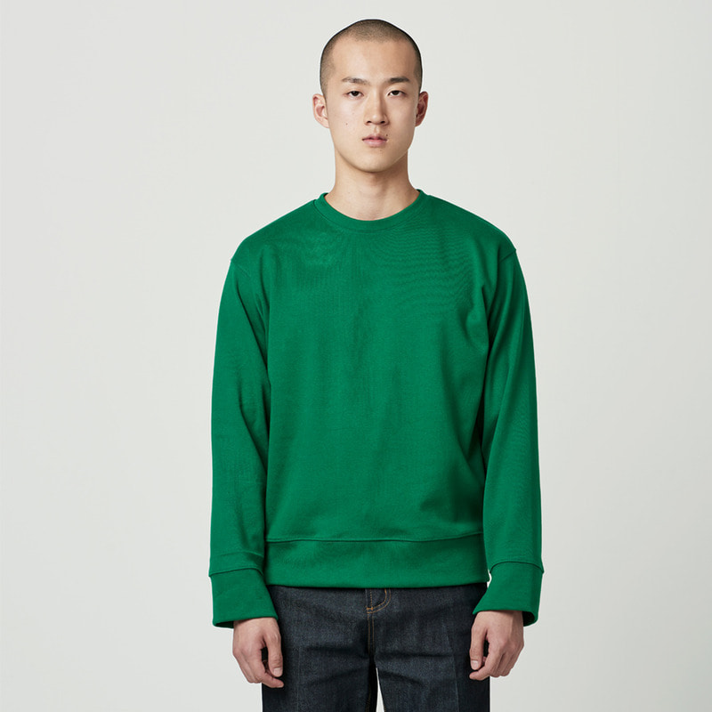 [NOVELLA] CUFFS CUT SWEATSHIRT GREEN
