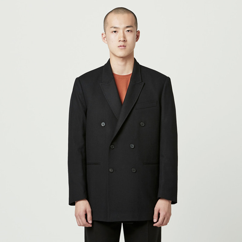 [NOVELLA] WOOL DOUBLE JACKET BLACK