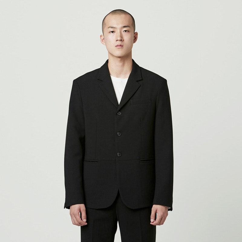 [NOVELLA] 3 BUTTON BLAZER BLACK