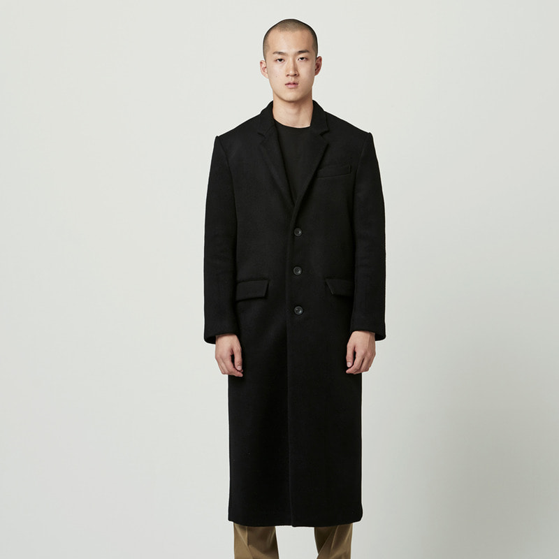 [NOVELLA] 3 BUTTON SINGLE FIT COAT BLACK