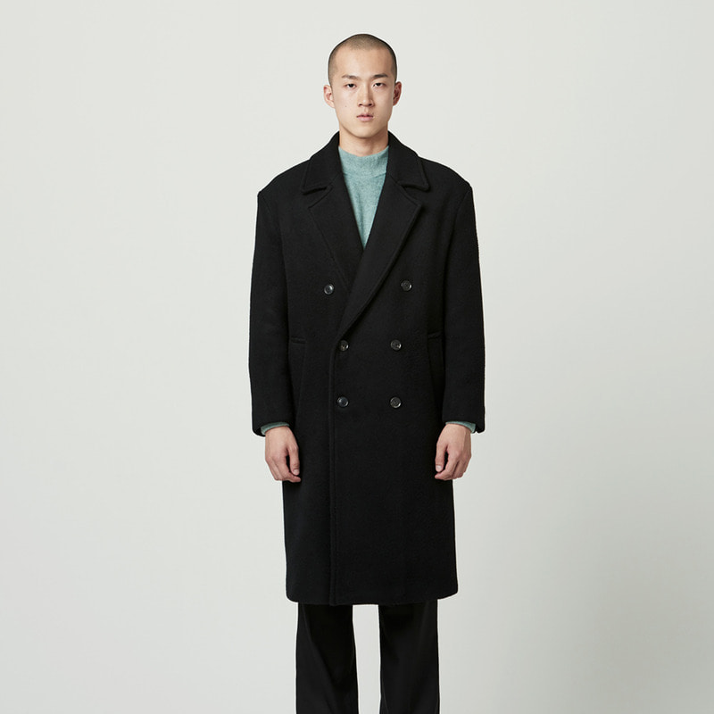 [NOVELLA] ALPACA DOUBLE COAT BLACK
