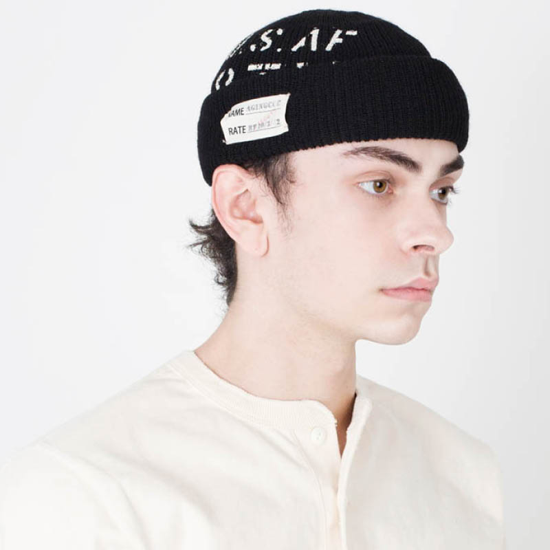 [AGINGCCC] 182# AKTS-05 ST WOOL WATCH CAP BLACK