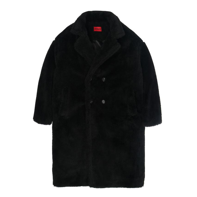 [DEADEND] BLACK FUR LONG COAT