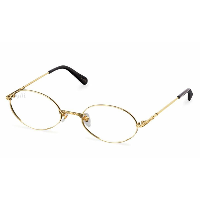 40 24K GOLD CLEAR LENS GLASSES RX (GOLD)