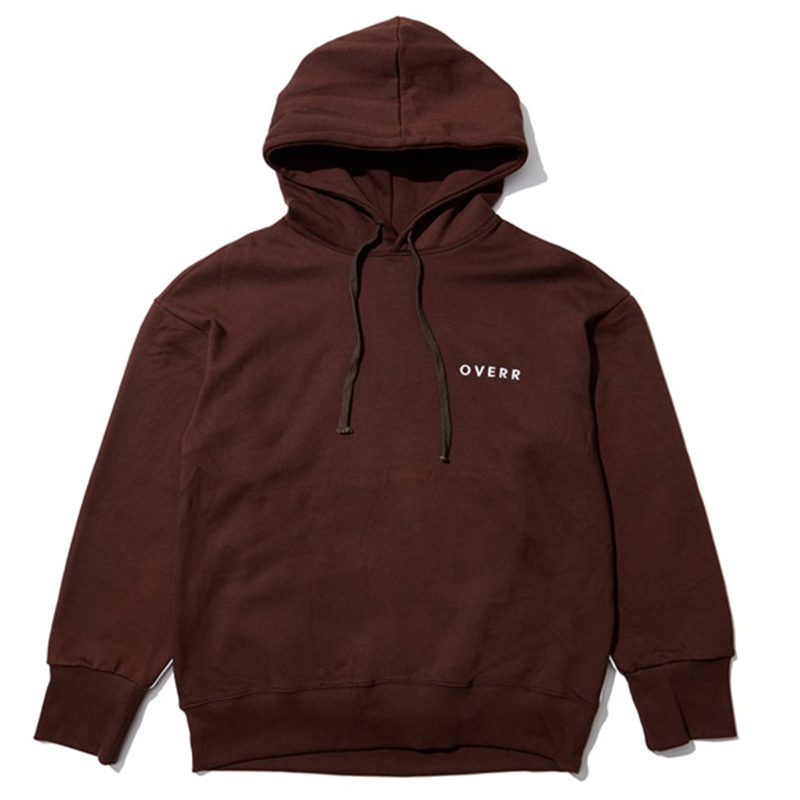 [OVERR] EASSY.3 BROWN SCOTCH PIPING HOODIE