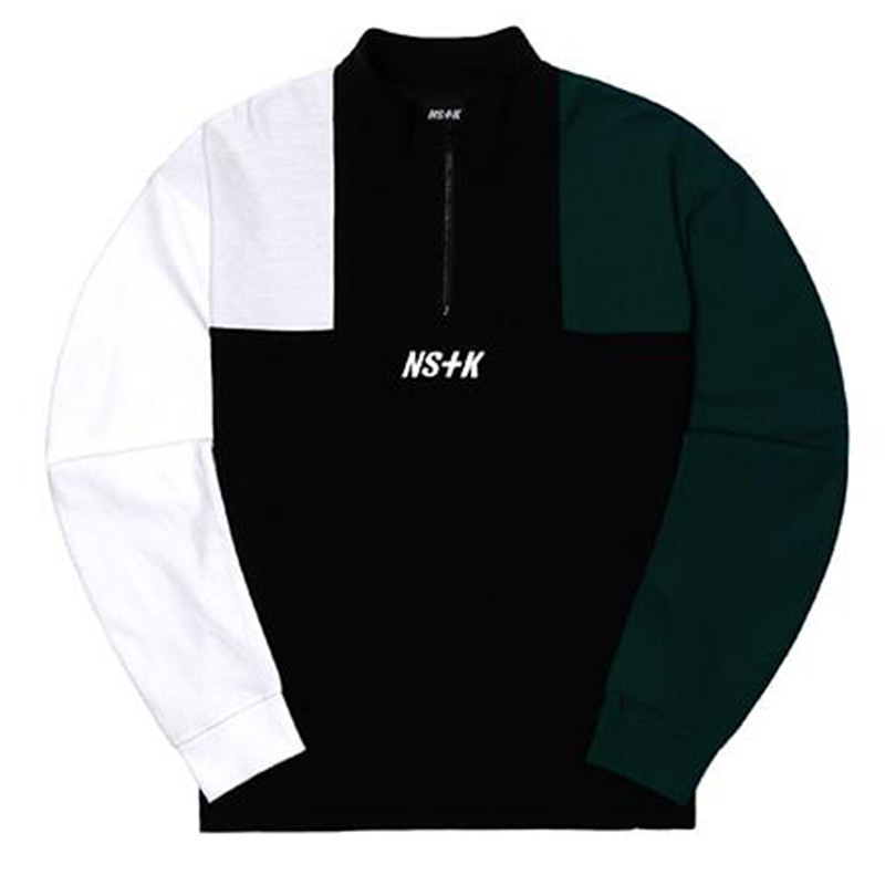 [2018 SUMMER SALE] [NSTK] APACHE ZIPUP NECK LONG SLEEVE (BLK-GREEN)