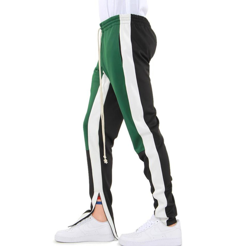 [$ SHOP SALE] [EPTM] COLOR BLOCK TRACK PANTS (GREEN/WHITE/BLACK)
