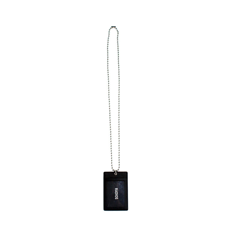 [RADIOS] RDS CARD HOLDER NECKLACE TRACK.1(BK)