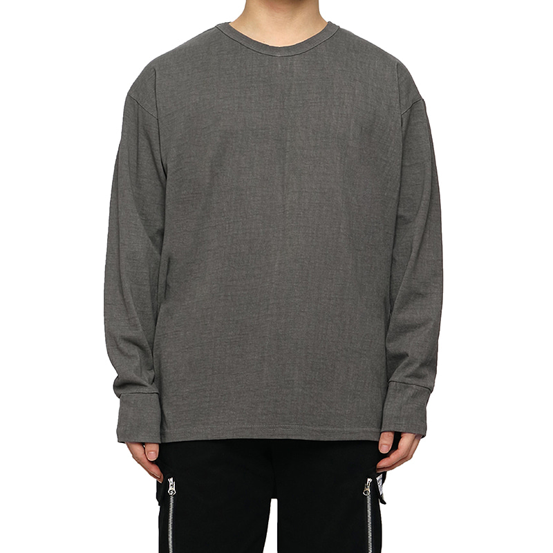 [DEADEND] GREY PIGMENT QUOTE LONG SLV