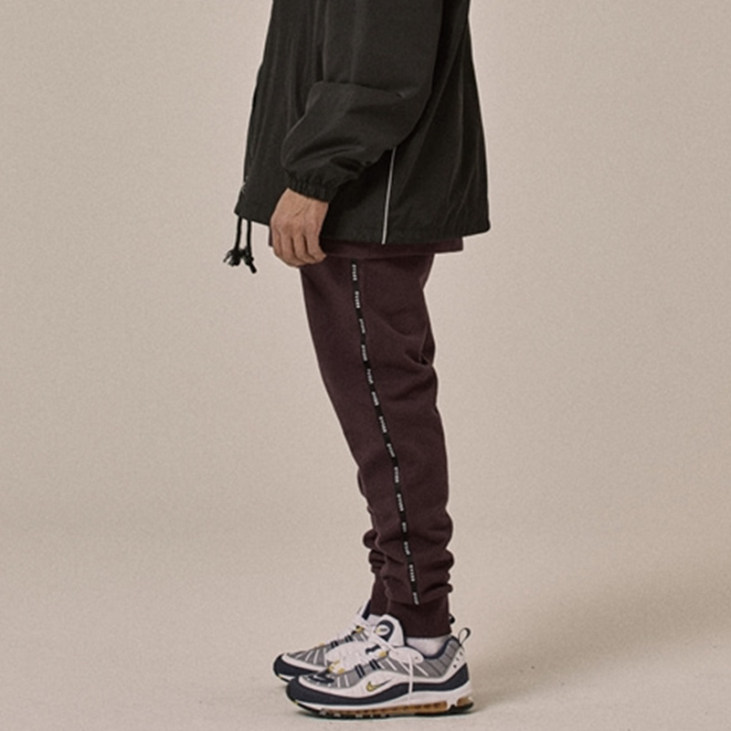 [OVERR] 18SS LOGO TAPING PURPLE PANTS