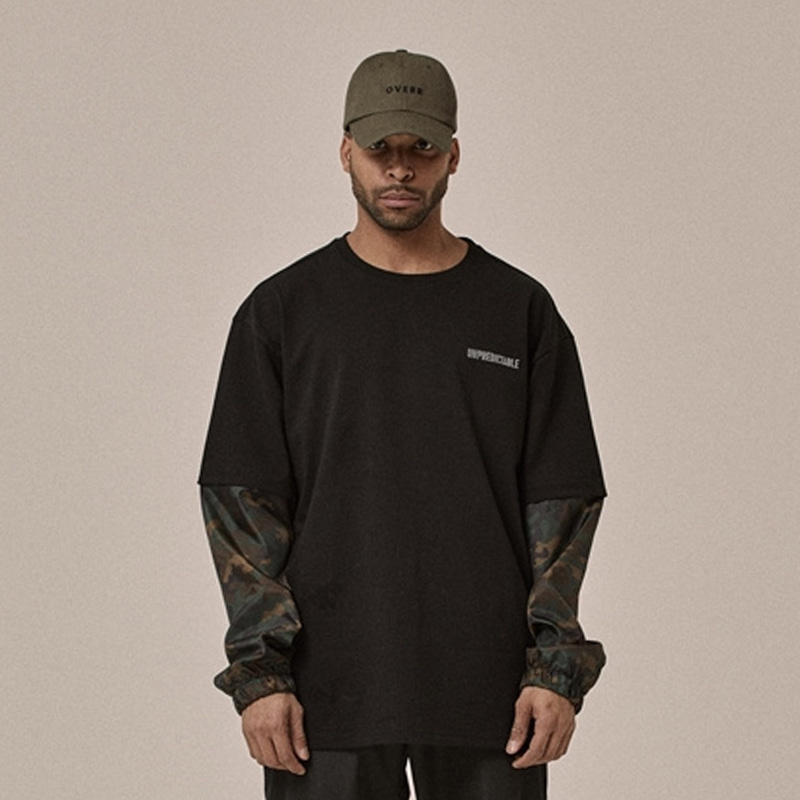 [OVERR] 18SS LAYERED BLACK CAMO TEE