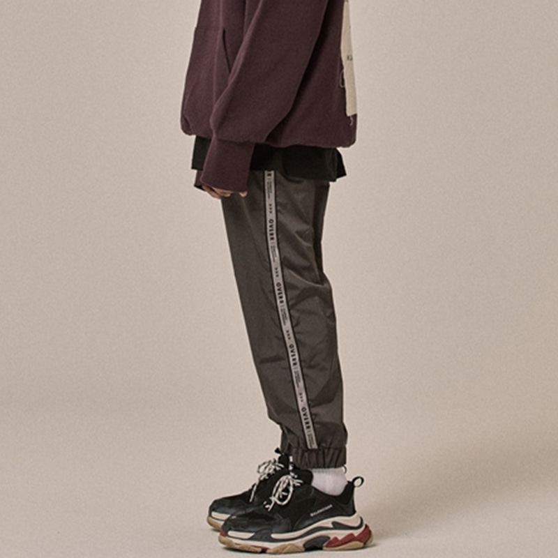 [OVERR] 18SS SIDE TAPING GRAY PANTS