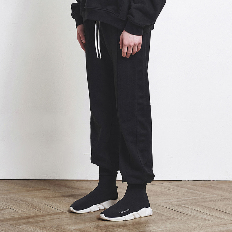 [SUMMER SALE 20% OFF] [DPRIQUE] TRACK JOGGER PANTS (BLACK/BLACK)