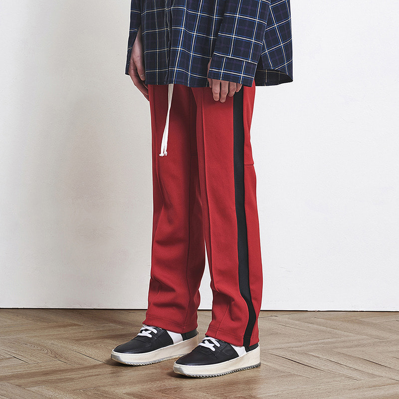 [SUMMER SALE 20% OFF] [DPRIQUE] TRACK PANTS (RED/BLACK)