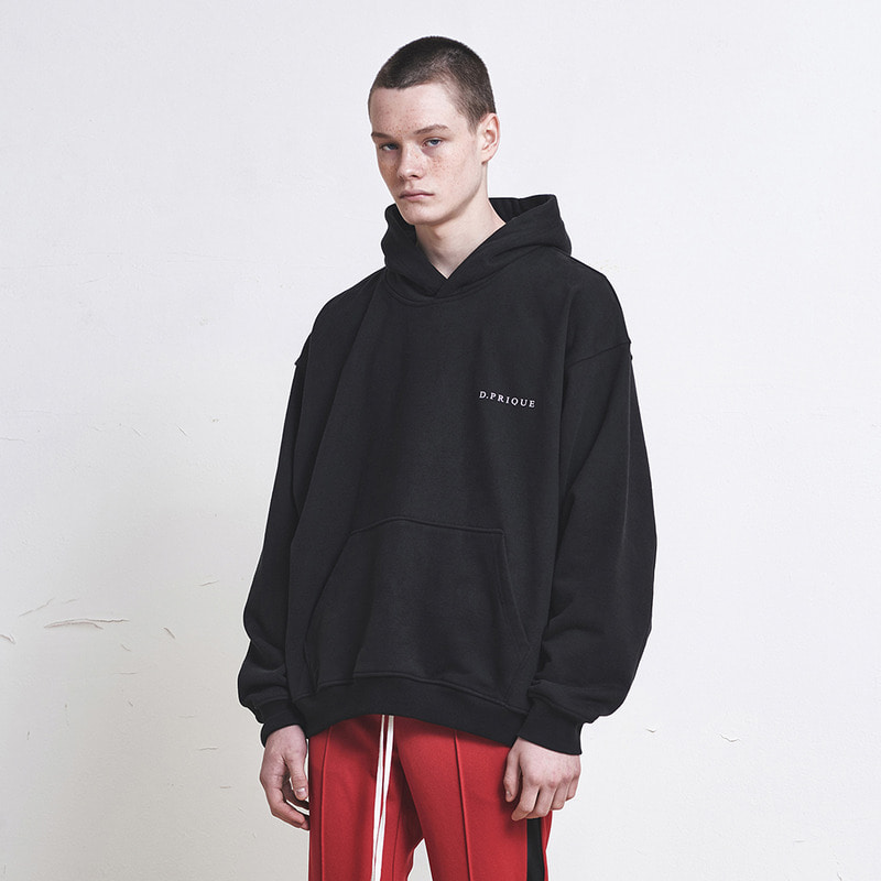[SUMMER SALE 20% OFF] [DPRIQUE] OVERSIZED LOGO HOODIE (BLACK)