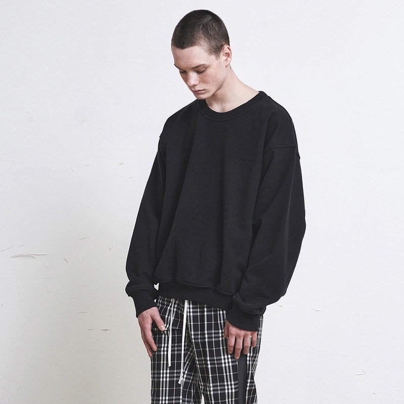 [SUMMER SALE 20% OFF] [DPRIQUE] OVERSIZED SWEATSHIRT (BLACK)
