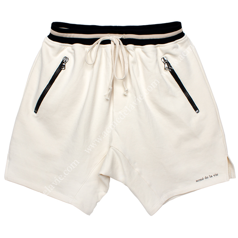 [ACME DE LA VIE]  ADLV 18SS TRAINNING SHORT PANTS (CREAM) 트레이닝 반바지 크림