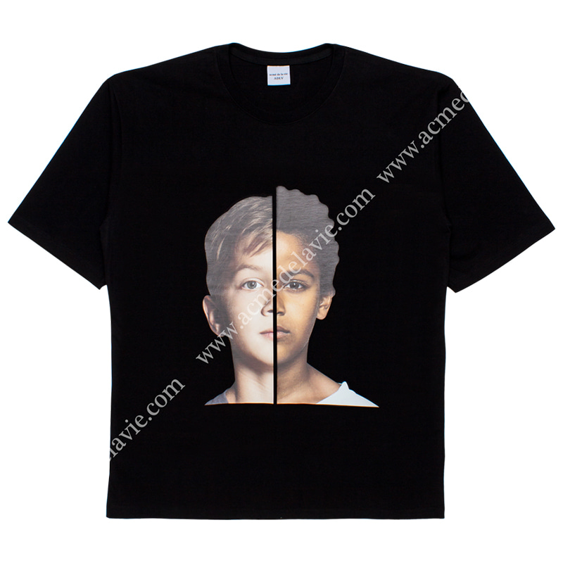 [ACME DE LA VIE] ADLV BABY FACE SHORT SLEEVE T-SHIRT (BLACK) 베이비 페이스 반팔 블랙 두소년