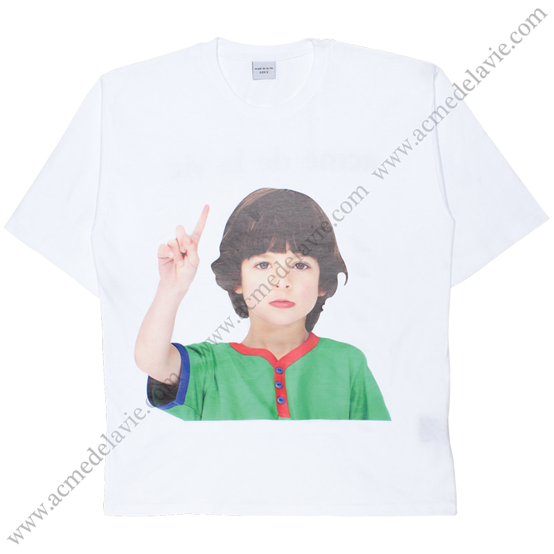 [ACME DE LA VIE] ADLV BABY FACE SHORT SLEEVE T-SHIRT (WHITE) 베이비 페이스 반팔 화이트 ONE MORE