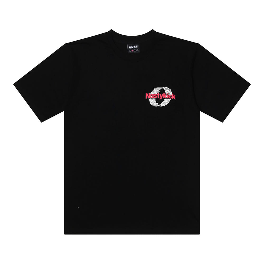 [2018 SUMMER SALE] [NSTK] NSTK ROUNDED TEE (BLK)