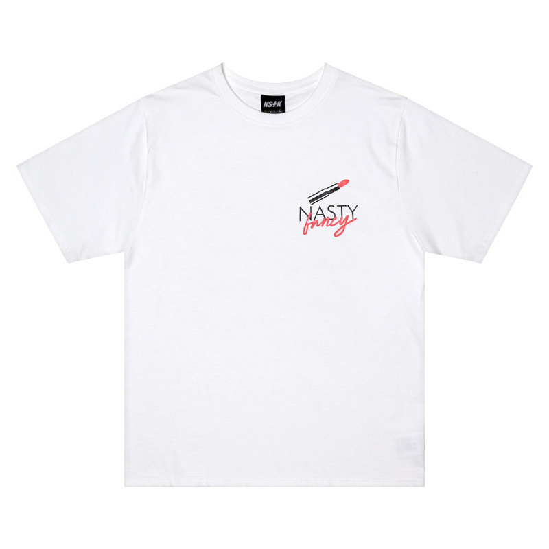 [2018 SUMMER SALE][NSTK] FANCY LIPSTICK TEE (WHT)