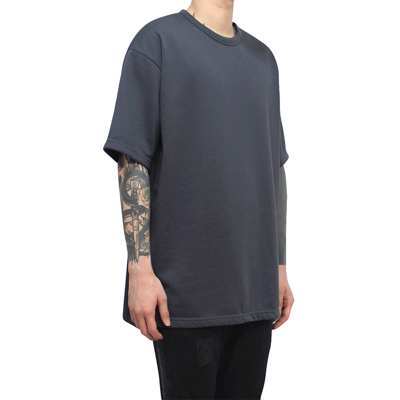 [CLACO] SQUARE TEE V3 (CHARCOAL)