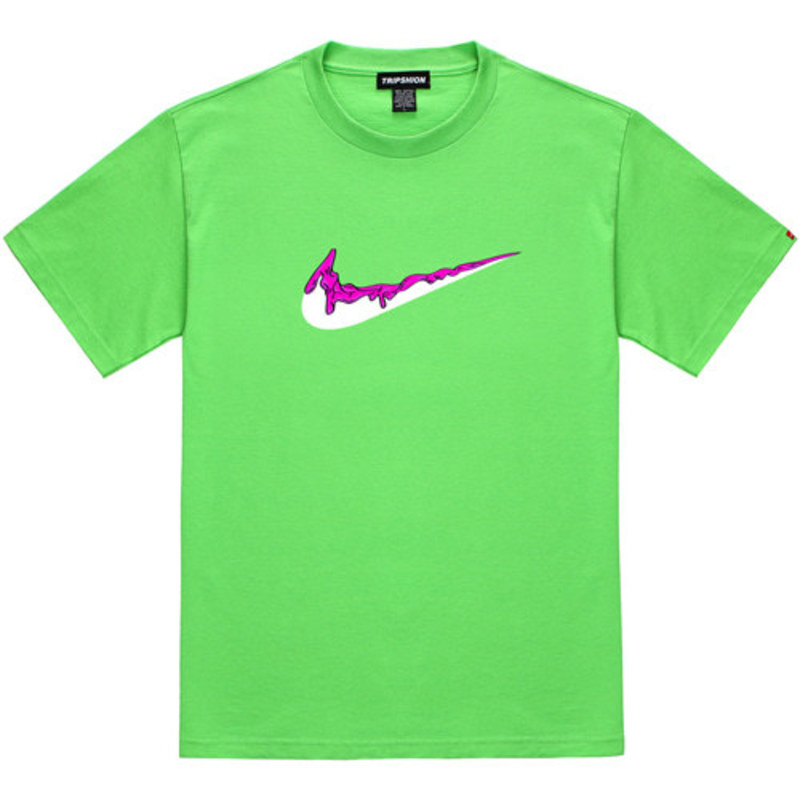 [TRIPSHION] PINK BENDING TOOTHPASTE T-SHIRTS LIME