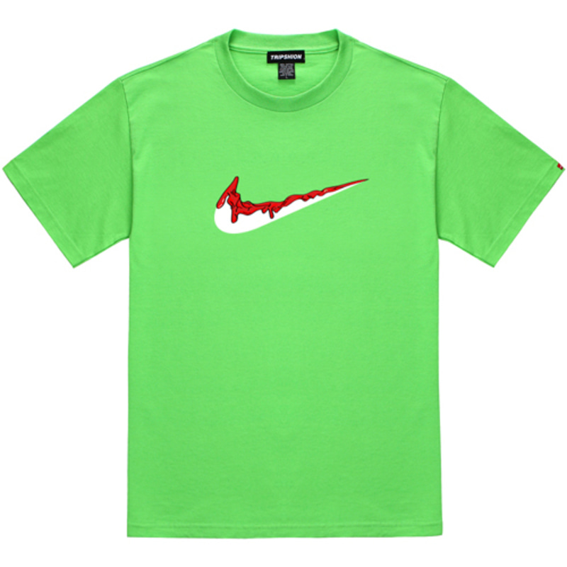 [TRIPSHION] RED BENDING TOOTHPASTE T-SHIRTS LIME