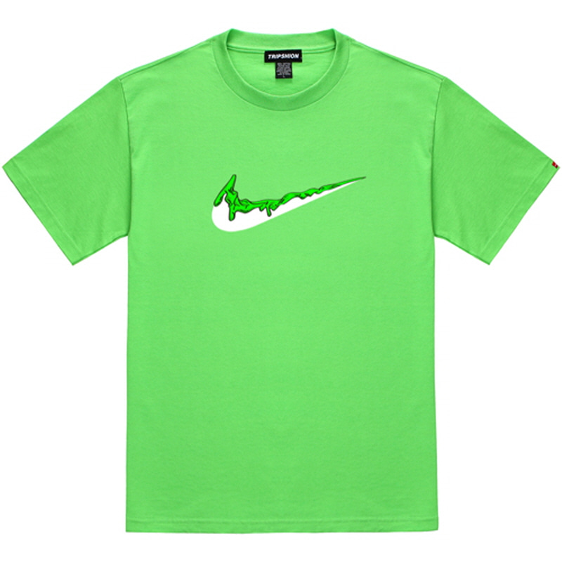 [TRIPSHION] GREEN BENDING TOOTHPASTE T-SHIRTS LIME