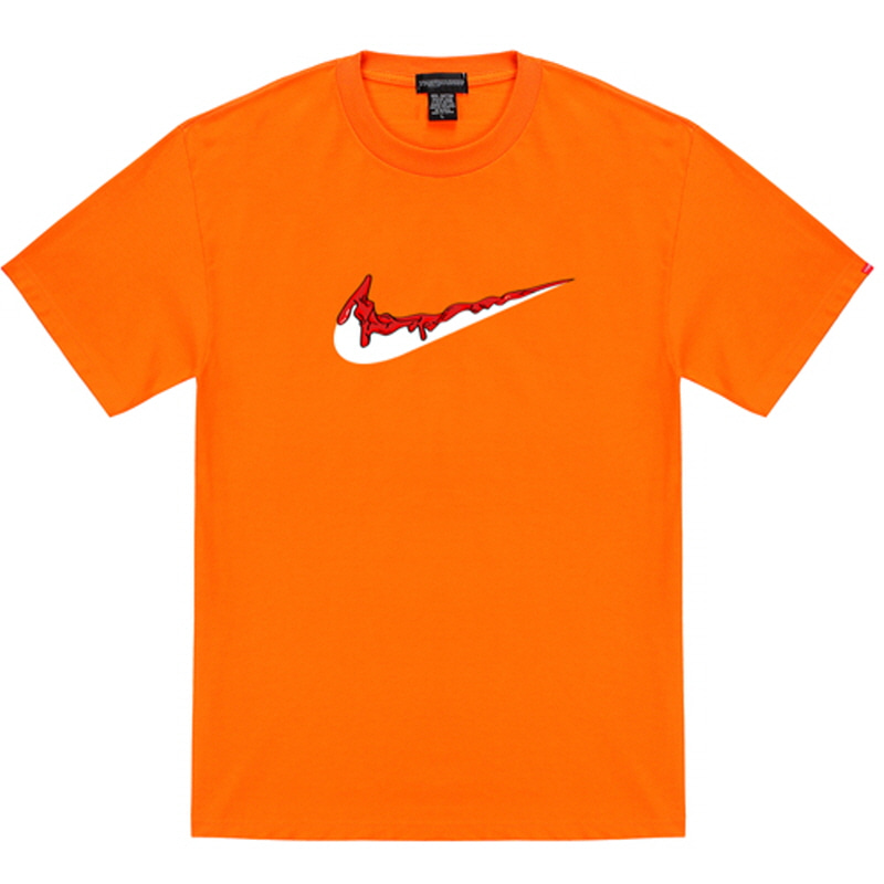 [TRIPSHION] RED BENDING TOOTHPASTE T-SHIRTS ORANGE